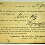 Feldpost Alwin Metz Januar bis September 1917