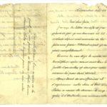 Lettera di Bartolomeo Malfatti al fratello