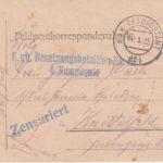 Vier Handgezeichnete Feldpostkarten, item 2
