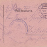 Drei handgezeichnete Feldpostkarten, item 4