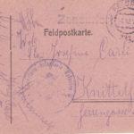 Drei handgezeichnete Feldpostkarten, item 6