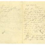 Lettera di Girolamo Fossati alla famiglia
