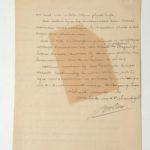 Brief met een verzoek aan de minister van oorlog, item 2