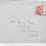 Envelope of letter sent to Muriel Green from her husband, June 1917