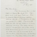 Letter from Harry Stanley Green to his wife Muriel, June 1917, page 1