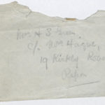Envelope addressed to Muriel Green