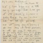 Letter from Muriel to her husband Harry Stanley Green