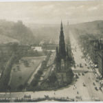 Aerial picture of Princes Street, Edinburgh