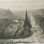 Aerial picture of Princes Street, Edinburgh