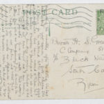Postcard from Muriel to her husband Private H.S. Green
