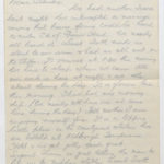 Letter from Stanley's brother, N.W. (Norrie) Green while he was serving with the East Riding Yeomanry, August 1914, page 1