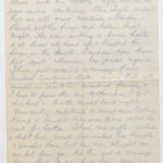 Letter from Stanley's brother, N.W. (Norrie) Green while he was serving with the East Riding Yeomanry, August 1914, page 2