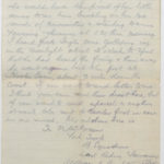 Letter from Stanley's brother, N.W. (Norrie) Green while he was serving with the East Riding Yeomanry, August 1914, page 3
