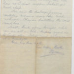 Letter from Stanley's brother, N.W. (Norrie) Green while he was serving with the East Riding Yeomanry, August 1914, page 4