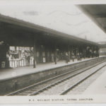 Postcard of railway station, Thirsk junction