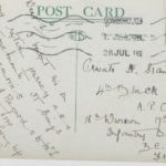 Postcard of railway station, Thirsk junction, address side