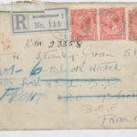 Envelope addressed to Private H. Stanley-Green, B.E.F., France