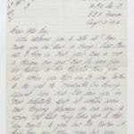 Letter to Stanley Green from a comrade of his regiment (Black Watch), August 1916, page 1