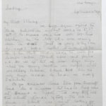 Letter from Muriel Green to her husband, Sept. 10, 1916, page 1
