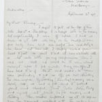 Letter from Muriel Green to her husband Stanley, Sept. 6, 1916, page 1