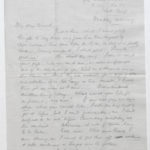 Letter from Stanley to his wife Muriel Green