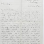 Second letter from Muriel to Stanley written on Sept. 6, 1916, page 1
