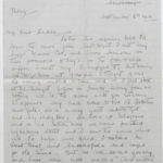 Letter from Muriel to Stanley written on Sept. 8, 1916, page 1