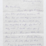 Letter to his wife Muriel, from North Camp, Ripon (no date)