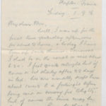 Letter to Muriel from Stanley Green, General Isolation Hospital, Etaples, France, 1 Sept. 1916