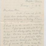 Letter to Muriel from Stanley Green, General Isolation Hospital, Etaples, France, 1 Sept. 1916