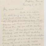 Letter to Muriel from Stanley in the General Isolation Hospital, Etaples, France, 5 Sept. 1916