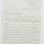 Letter to Muriel from Stanley, General Isolation Hospital, Etaples, France, 22 Aug. 1916