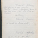 John Breed, Diary and Training diary, item 12