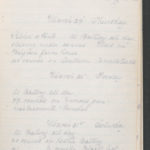 John Breed, Diary and Training diary, item 19