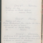 John Breed, Diary and Training diary, item 20