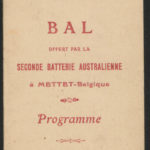 Programme of a concert to be held in Mettet, Belgium