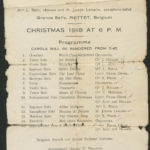 Programme of a Christmas carols concert 1918