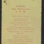 Battalion dinner menu July 1916