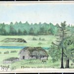 Selbstgemalte Postkarten vom Kurland des Soldaten Otto Benke an seine Verlobte Gretel, item 1