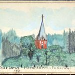 Selbstgemalte Postkarten vom Kurland des Soldaten Otto Benke an seine Verlobte Gretel, item 4