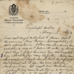 Carnet et correspondance de guerre d'un réfugié belge