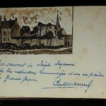 The autograph book of VAD Nurse May Benson and a portrait by Fred Brooke, item 88