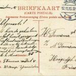 Briefkaarten, brief, treinkaarten en twee foto's van Geert Tamsma, item 4