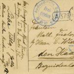 Drie ansichtskaarten en één Feldpostkarte van gebroeders Fischer, item 6