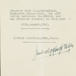 Formal note receipting revolver from JB MacLachlan of Ennis in 1941