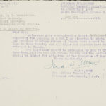 Correspondence advising JB MacLachlann of the transfer of files to Canada