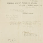 Correspondence from Overseas Military Forces of Canada with JB MacLachlan re commencement of service