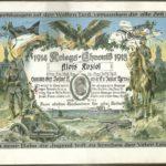 Dyplom pamiatkowy \\'Kriegs-Chronik 1914/1918\\' oraz fotografie