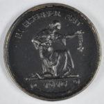 Medaille \\'In Eiserner Zeit\\' 1916 von Familie Wilbrandt/Schuhmacher