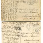 Ansichtkaart van mijn grootvader gemobiliseerd in Brabant